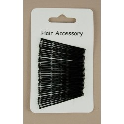 Kirby Hair Grips - 36 black 40mm waved hairpin hair grip slides