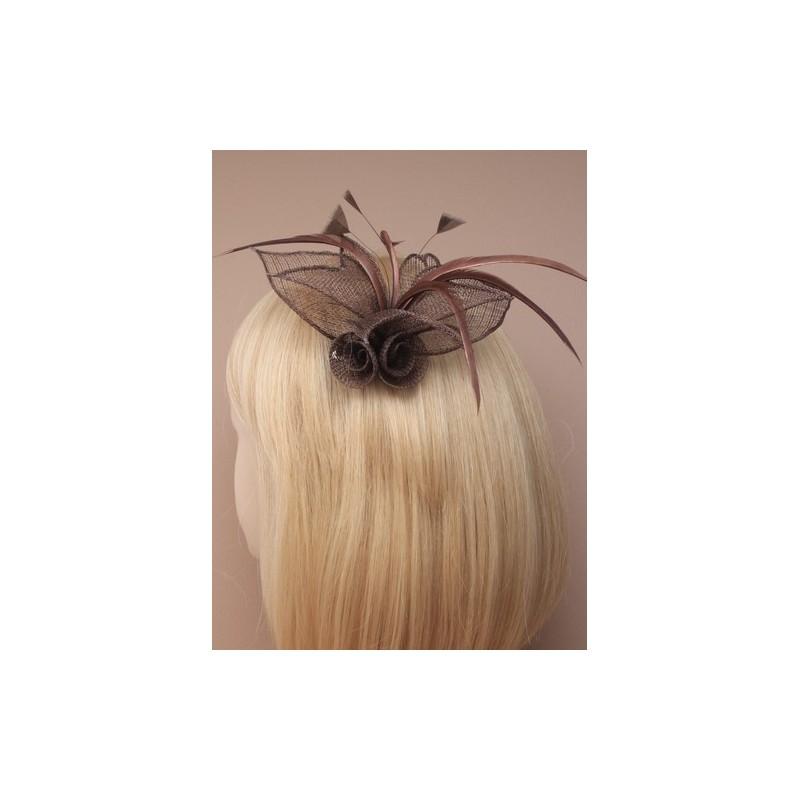 fascinator clip & pin - maske netto blomst og fjer fascinator klip med broche pinkode