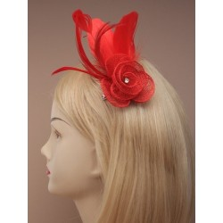 clip fascinator & pin - fascinator rosebud con clip de color plumas fascinator con broche