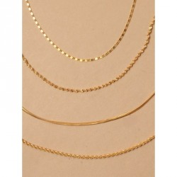 Tele-cord Hair Elastics - Gilt chain anklet In 4 styles of chainLink, rope, twisted and plainLength : 9in + 2in extension chain