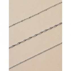 Tele-cord Hair Elastics - Fine silv anklet chain In 3 styles of chain Length 9in+2in extension