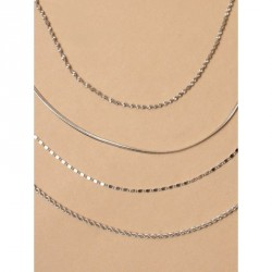 Tele-cord Hair Elastics - Silv chain anklet In 4 styles of chain Link, rope, twisted and plainLength : 9in + 2in extension chai