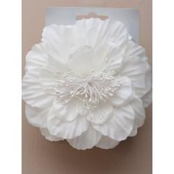 peigne magique - grande fleur crème sur un peigne double