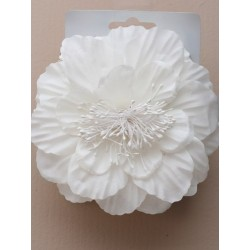 Magic Comb - Large cream flower on a double comb