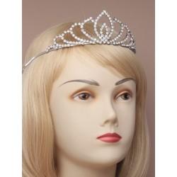 Tiara - Vintage plated crystal tiara in a cream giftbox