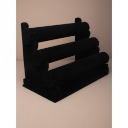 Black Velvet 3 Tier bangle display stand Made up size 23cm wide x 17cm tall