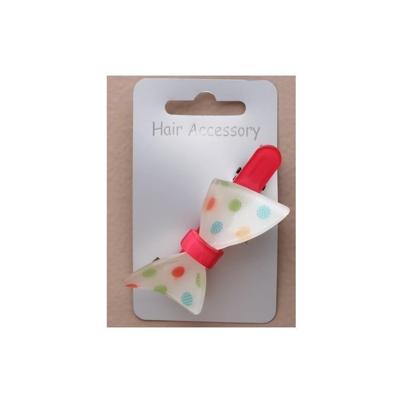 hairslide - 7 cm de brillante color hairslide acrílico color aleatorio con arco irregular o mariposa