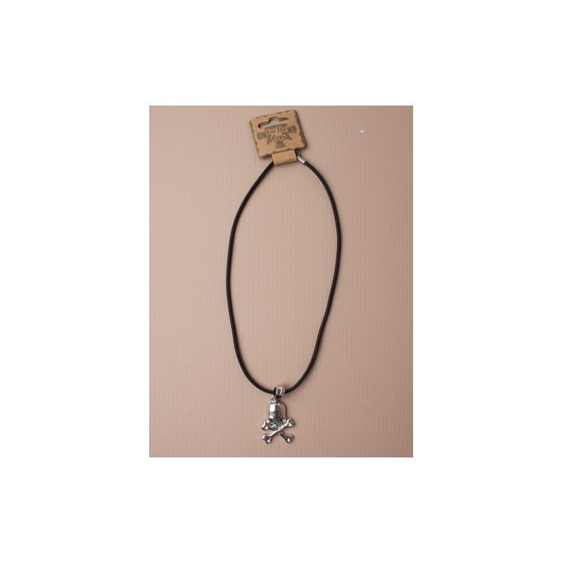 necklet - kraniet og crossbones pendant necklet