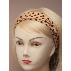 Headwrap - spotty fabric...