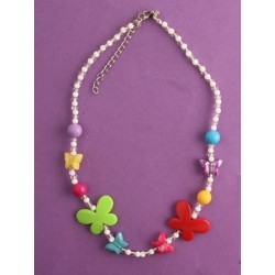 """Necklace - 16"""" butterfly or heart bead necklace in random..."""