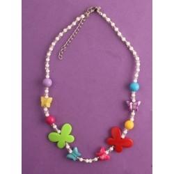 """목걸이-16 """"나비 또는 심장 임의의 colourway 목걸이 구슬로 장식 한다"""