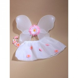 Tutu - Flower Fairy Set Wings, tutu and hair garland with...