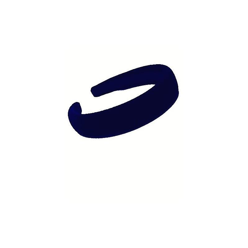 Aliceband - Navy Flock ~25mm padded alice band headband