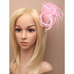 Fascinator Comb - Large Pastel coloured looped fabric and...