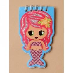 Notebook - Children's spiral glitter detail mermaid...