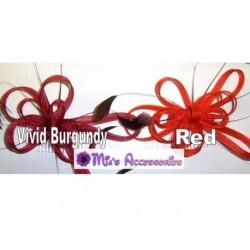 Fascinator-Kamm - gewickelten Net & Feder Haar Fascinator auf eine klare Haar-Kamm