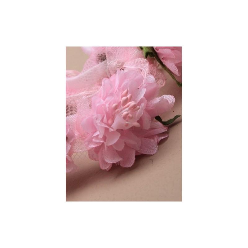 guirlande de fleurs oeillet de chignon. en mauve/rose ou off white.