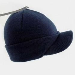 Beanie Hat - Knitted Peak...