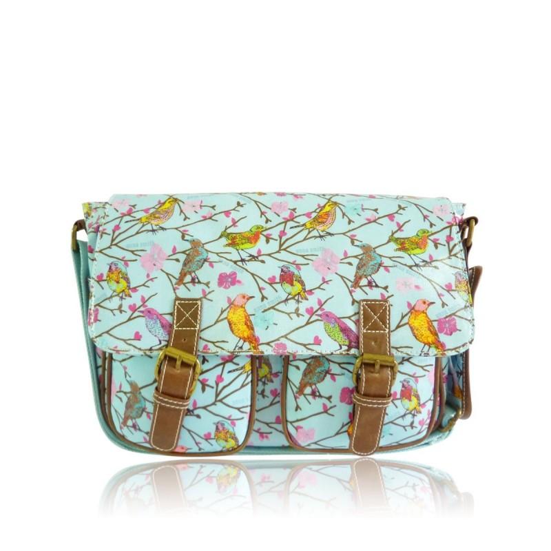 Messenger taske - små fugle - anna smith ny messenger taske