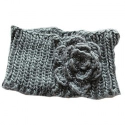 Knitted headband with...