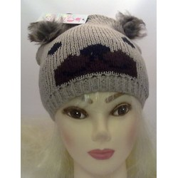 Knitted character hat - pom...