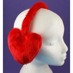 Earmuffs - Red Love Heart earmuffs