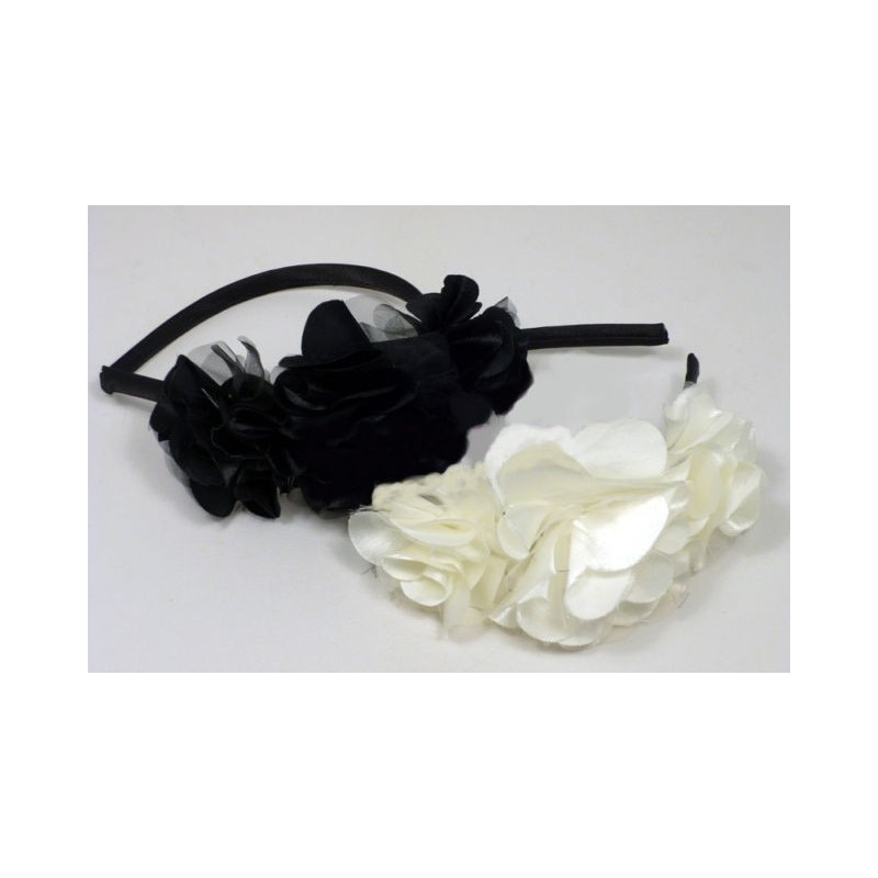 aliceband - serre-tête étroit de rosette tissu triple bande alice