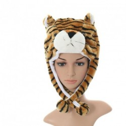 Fun Faux Fur character hat and pom-pom scarf combi