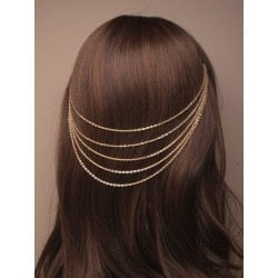 gilt cascaiding hair chains...
