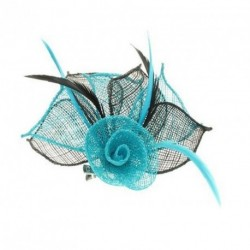 Fascinator Clip & Pin - 2 tone coloured hessian netted rose with 3 petals fascinator on a beak clip and brooch pin