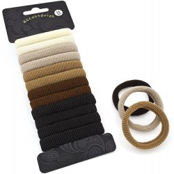 Twelve piece brown tone elasticated hair ponio hair elastics set
