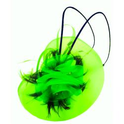 Hatinator Headband Hair Band Emerald Green Net Cap Flower...