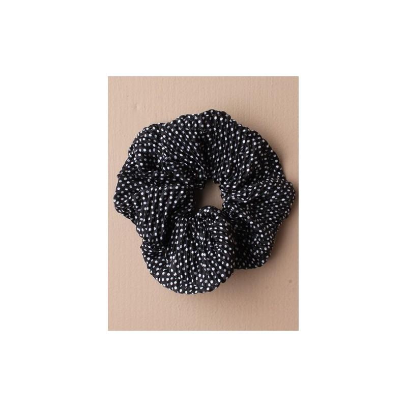 bims print ru stof scrunchies. i et udvalg af sort/hvid/brun og grå.