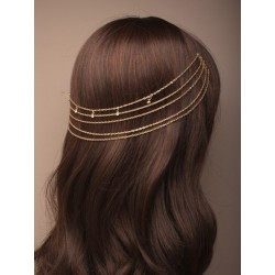gilt hair chains on combs...