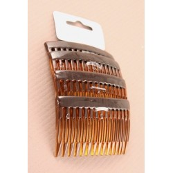 Hair Combs - Tortoise Shell Colour - 7cm hair combs - pack of 4 hair combs