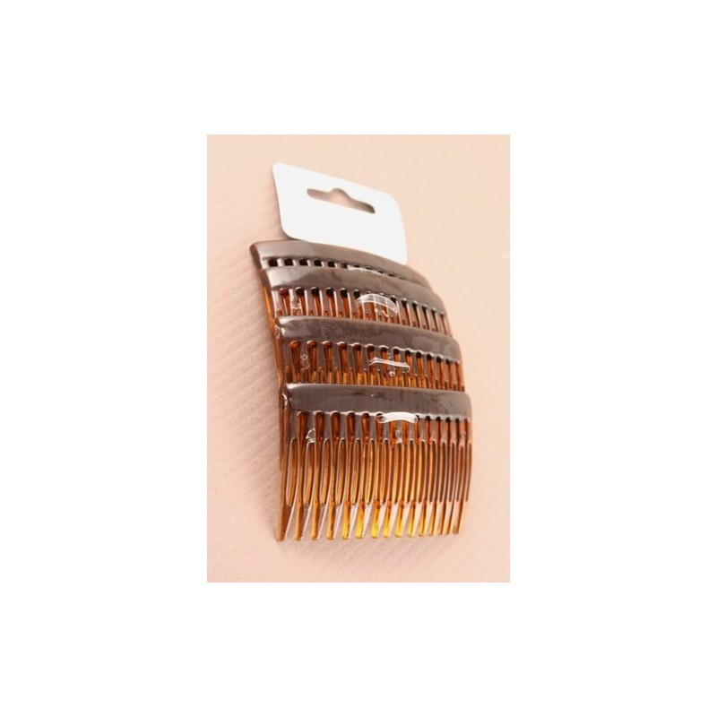 Tortoise Shell Colour - 7cm hair combs - pack of 4
