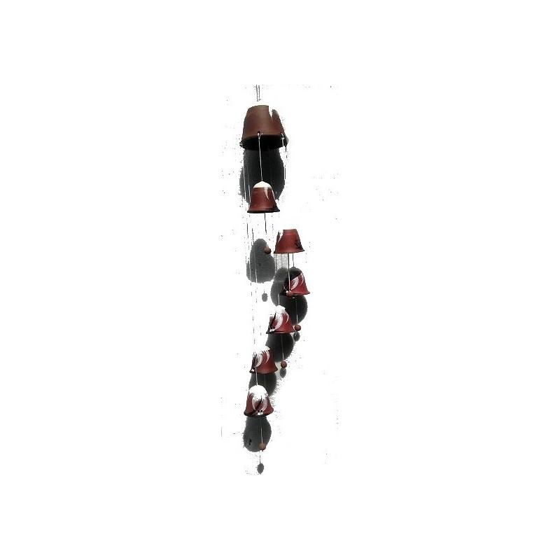 terre cuite carillons éoliens - 7 carillons - 74cm pour