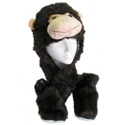 Fun Faux Fur character hat, scarf and mitten combi