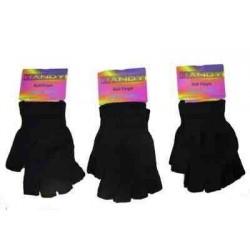 One pair of Half-finger magic gripper gloves black