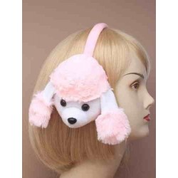 Earmuffs - Poodle Earmuffs in pink or white