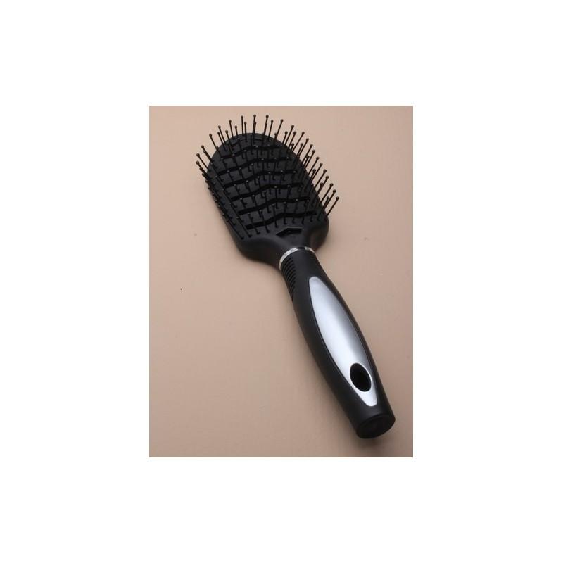 cepillo de ventilación amplia negro y plata