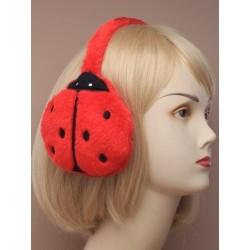 Red ladybird earmuffs