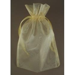 Organza gift bag - light gold - 15cm x 22cm