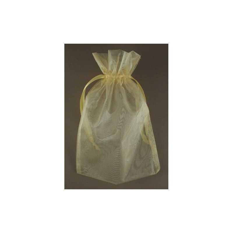 Organza gift bag - light gold - 15cm x 22cm