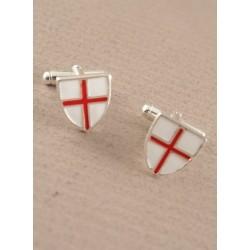 St George boutons de manchette croix (case en option)
