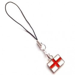 England world cup St George Cross Flag Phone/Bag charm