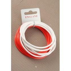 England Red & White Bangle Set