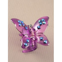 Hair Clamp - Translucent Butterfly 5cm hair clamp