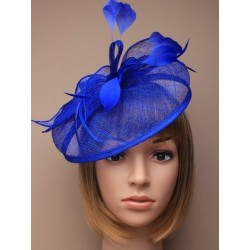 Hatinator - Large Royal blue looped hessian Alice band Fascinator Hatinator