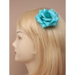 zobák vlasy clip - jemné tkaniny růže na Silv vidlicovým vlasy grip snímek